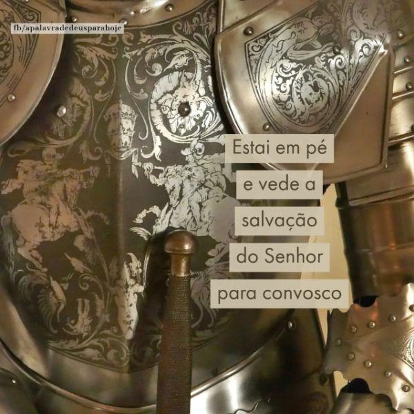 Um poderoso guerreiro se levanta e vê a salvação de Deus.