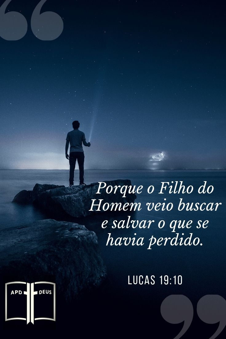 Um homem que brilhava uma pequena luz no céu escuro da noite. Jesus veio para salvar aqueles que estavam perdidos na escuridão de seus pecados.